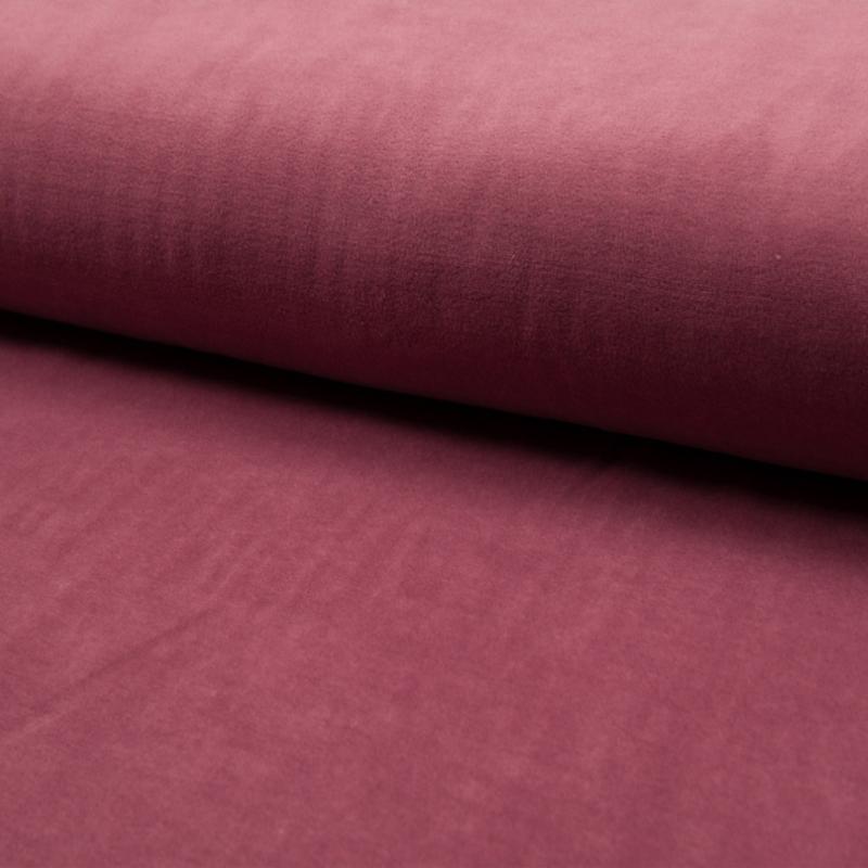 Nicky velours uni | Dark Dusty Pink  214
