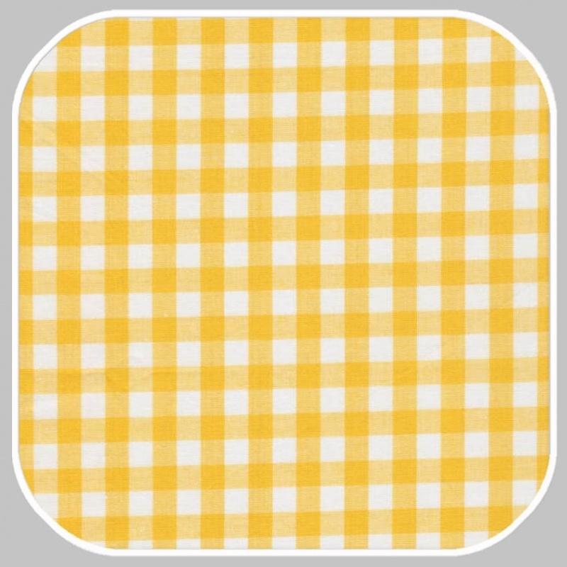 Katoen Ruit   M   geel