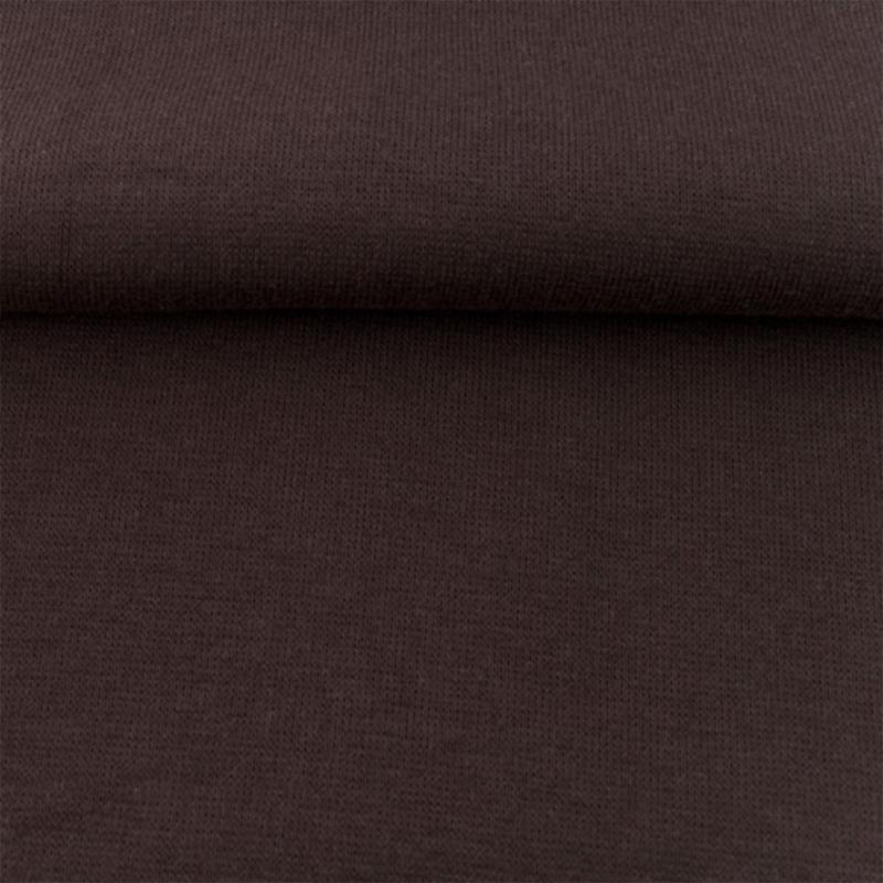 tricot boordstof uni | donkerbruin