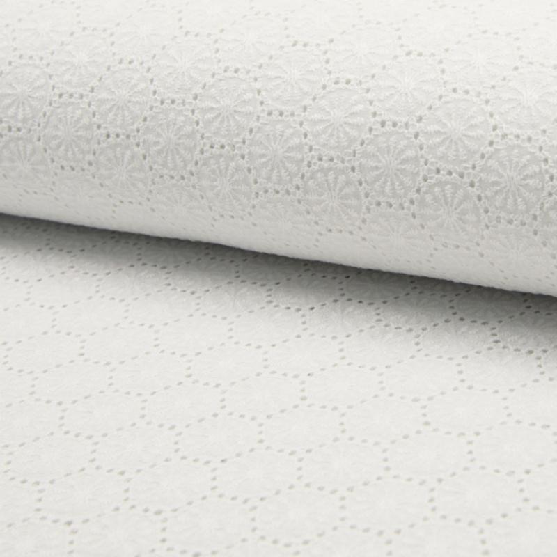 Katoen Broderie  de Luxe   Optical White  - 450