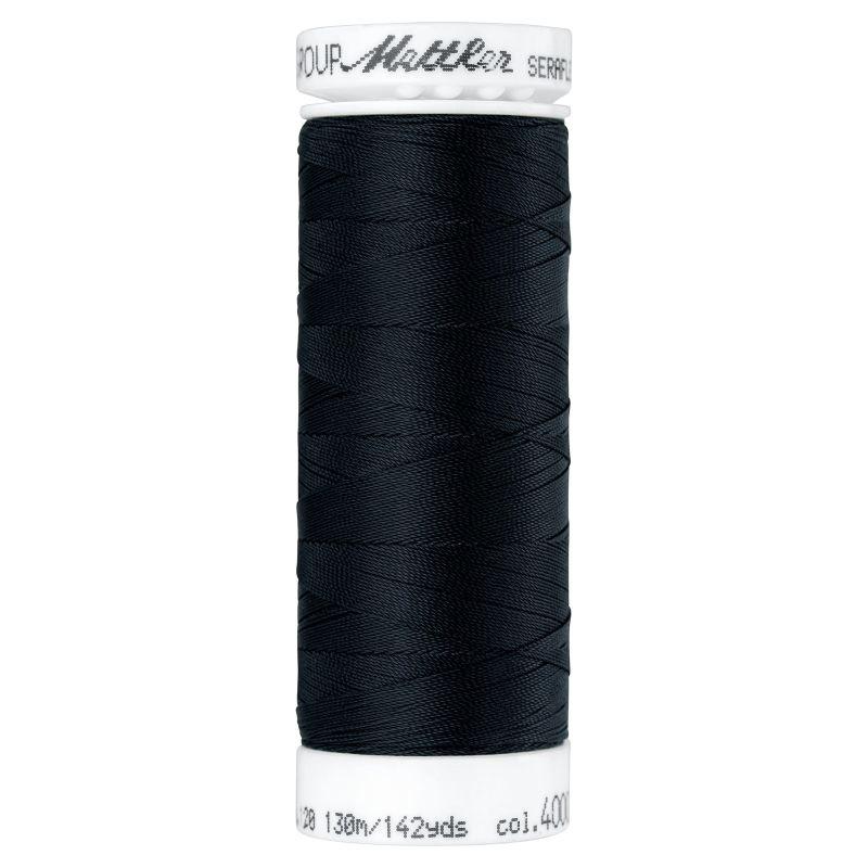 Seraflex - Elastisch garen - kleur 4000 - Zwart