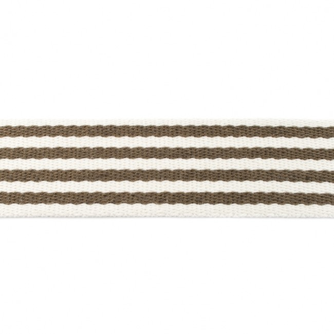 Tassenband Katoen | Streep - Army | 4cm breed