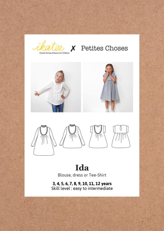 Ikatee Pattern   Ida    blouse & dress - Girl 3/12