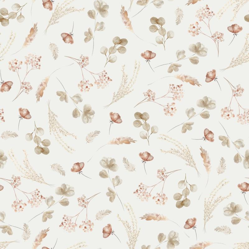 Family Fabrics   Tricot Print   Romantic Dried Flowers