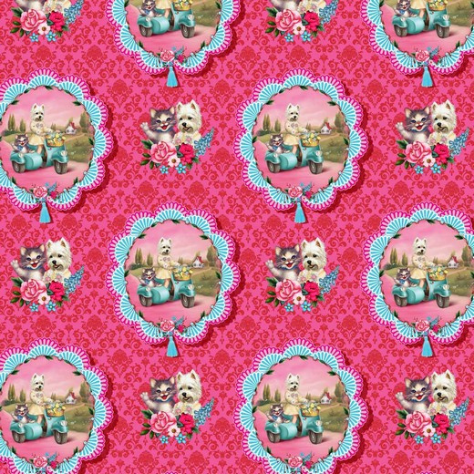 Tricot Print | Holiday  | Fiona Hewitt - Fuchsia Pink