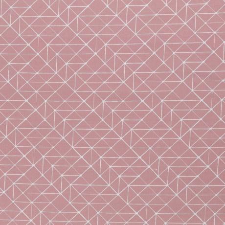 Katoen Print | Swafing -  Geometric  - Pink