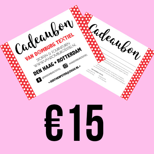 Cadeaubon -  Vijftien euro
