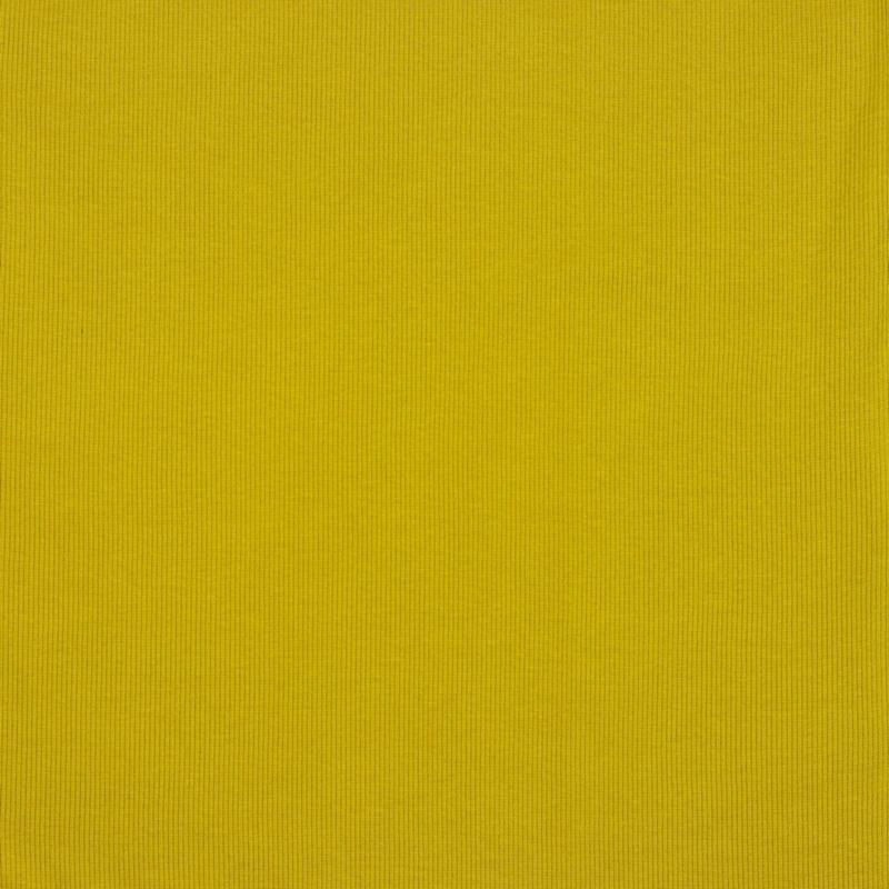 Boordstof GOTS Ribbed - Mustard