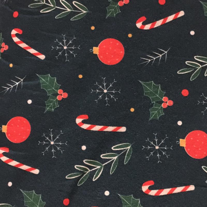 Tricot Print Swafing | Kerstbal - Petrol