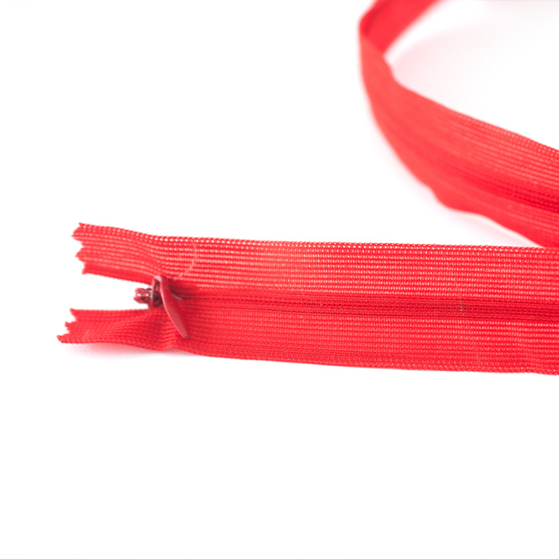 Blinde rits  | Rood - 22 of 60 cm