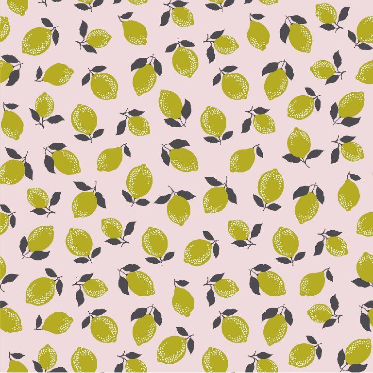 Tricot print | Lemon and Lime | Pink