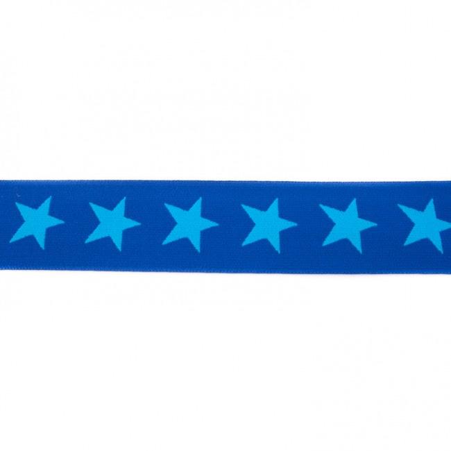 Elastiek    4 cm breed   Koningsblauw - Turquoise
