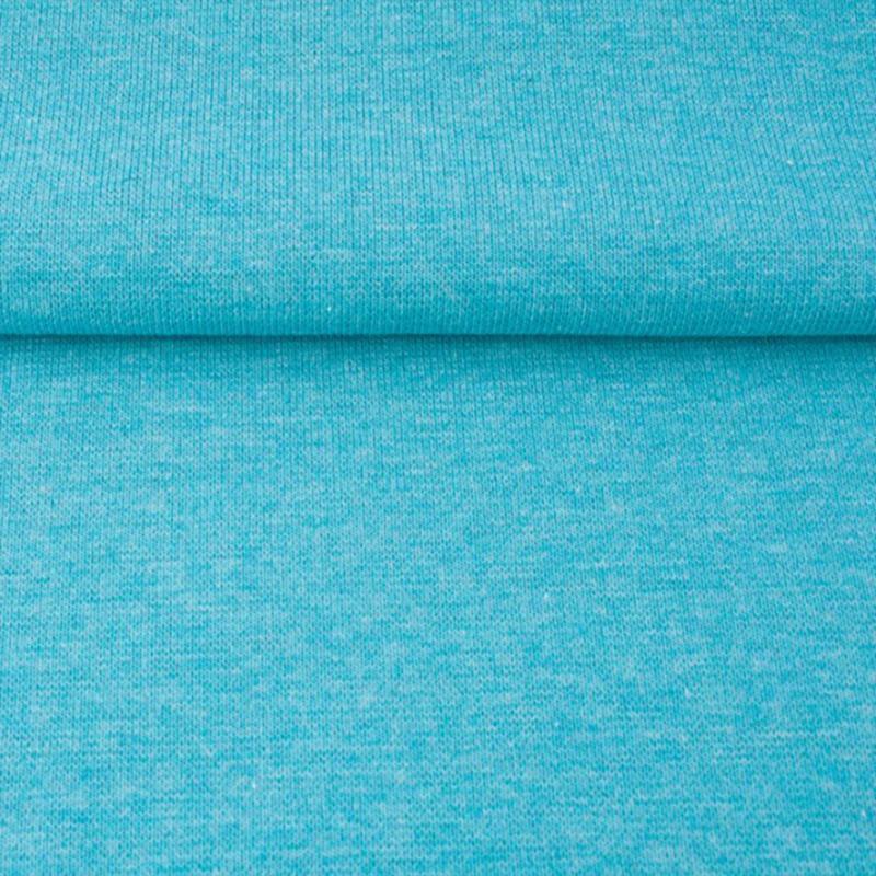tricot boordstof melange | licht aqua