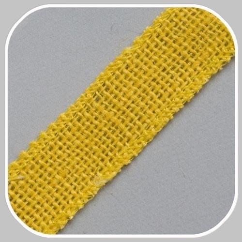 40902 jute band geel/ 25 mm