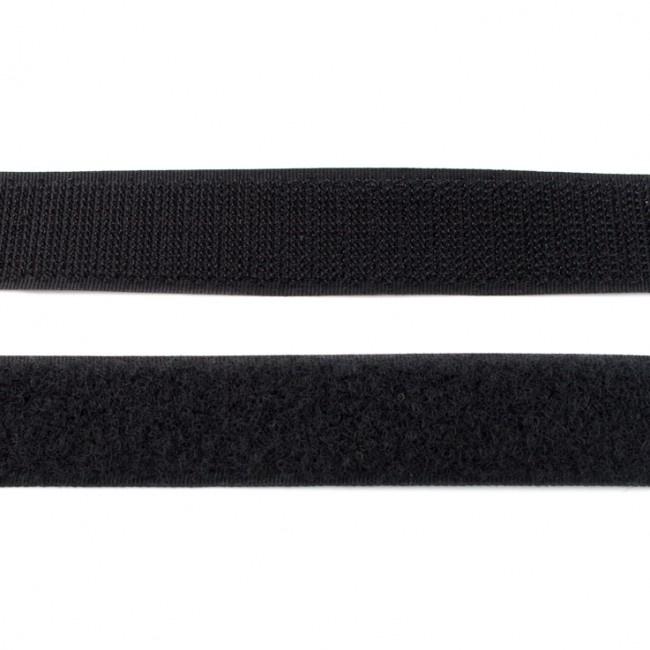 klittenband | zwart  breedte 20 mm