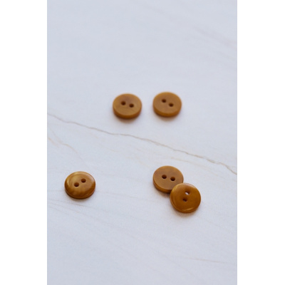 Mind the Maker | 2 - hole Corozo Button - 11 mm - Gold