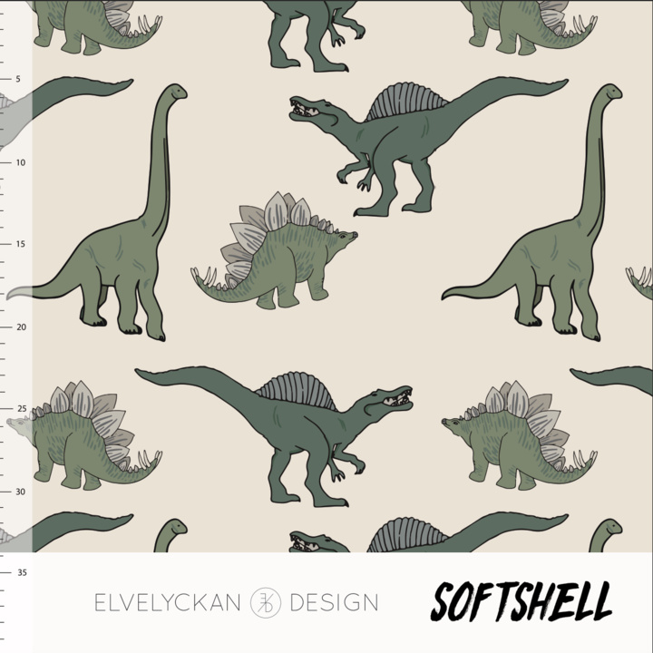 Elvelyckan design | Soft Shell  | Dino  | Oeko tex