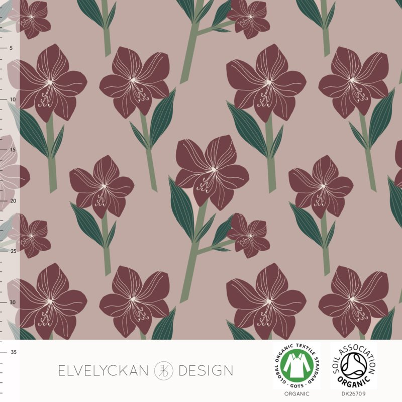 Elvelyckan design | tricot | Amarylis - red | Organic