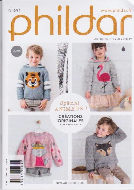 Phildar mini catalogus   nr. 691   herfst - winter 18/19