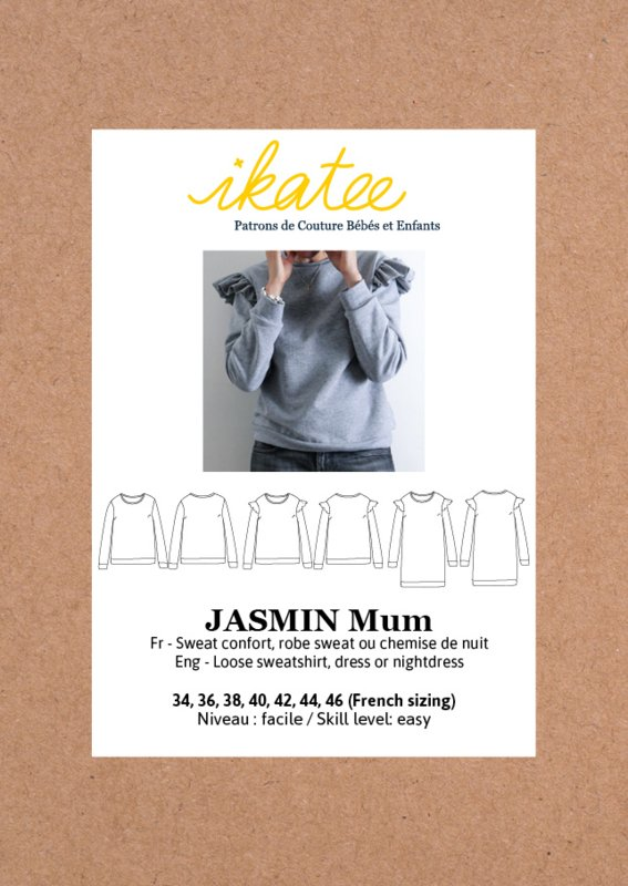 IKATEE | JASMIN Mum sweatshirt/dress -34-46 - Paper Sewing Pattern