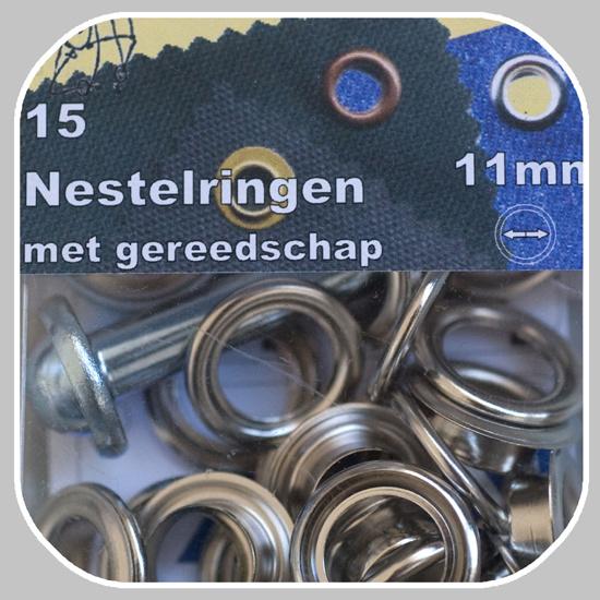 nestelringen | zilverkleurig |  4/ 8/ 11/ 14 mm  v.a.