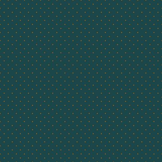 Tricot Gots   Mini Dots    Dark Petrol - Ochre