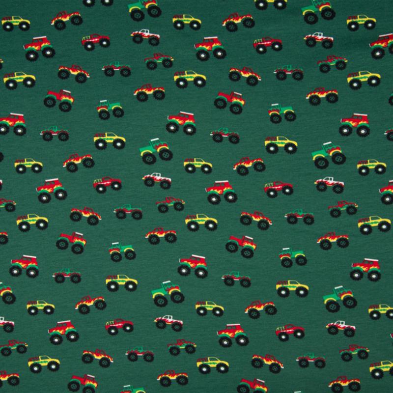 Tricot print   Monster trucks   Green