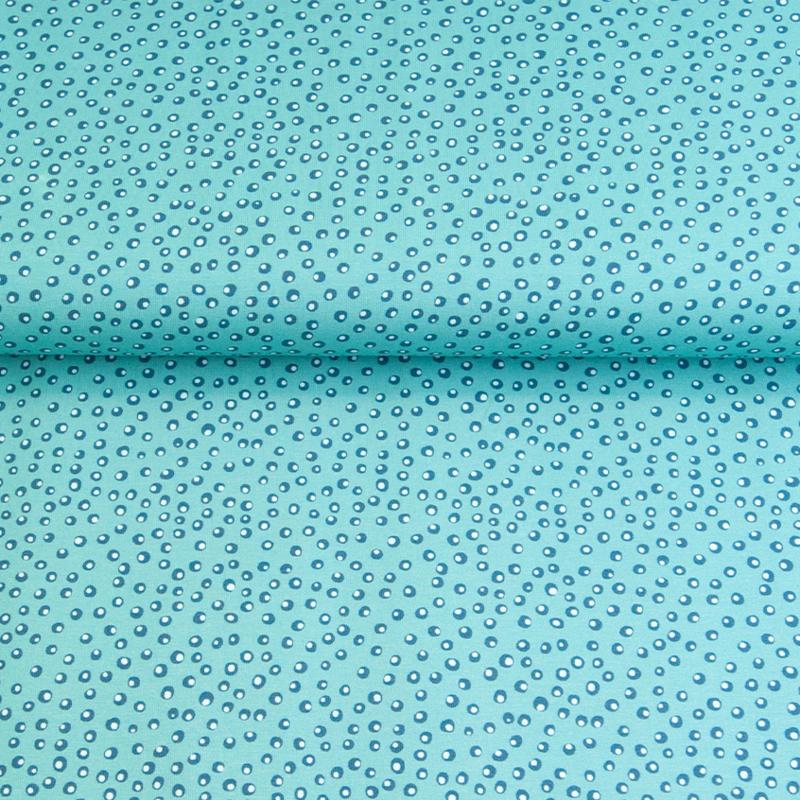 Tricot print | Swafing - Little King - Dot | Aqua