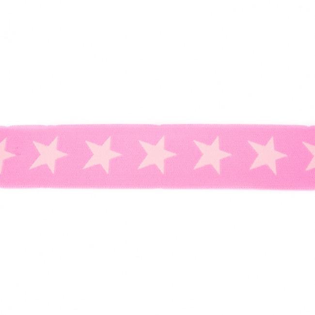 Elastiek  | 4 cm breed | Roze - Lichtroze