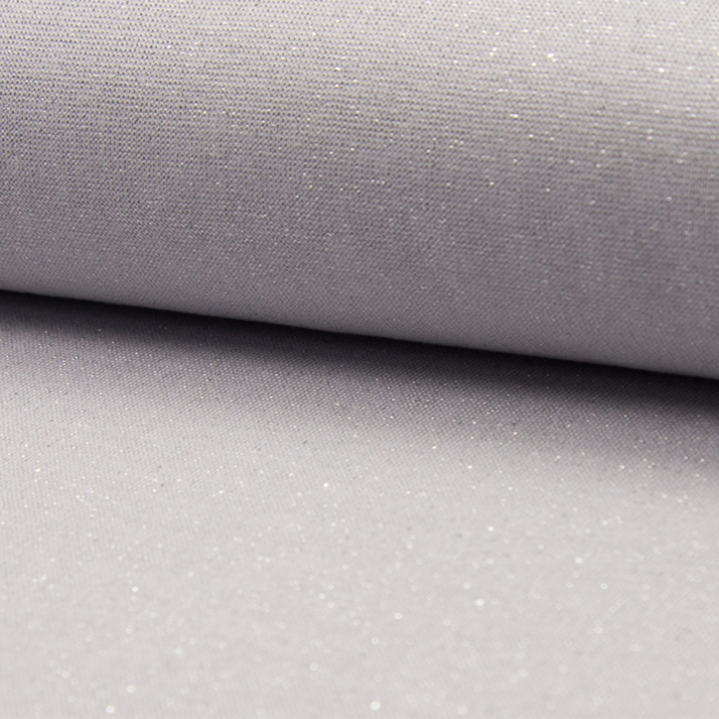 tricot boordstof | glitter | zilver