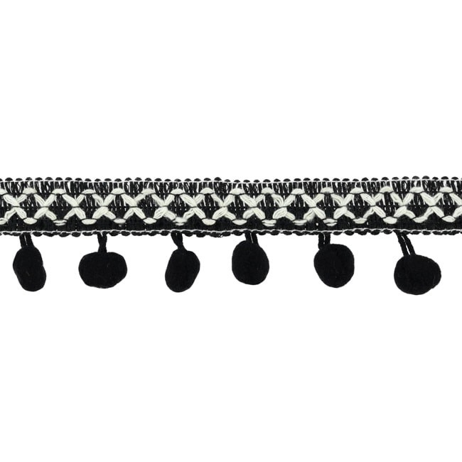 Bolletjesband   Cross - Zwart  31620
