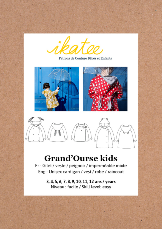 Ikatee Pattern | Grand'Ourse cardigan - Kids 3/12yr