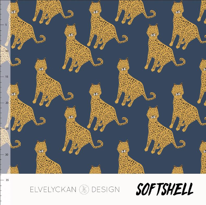 Elvelyckan design   Soft Shell    Lynx - Blue     Oeko tex