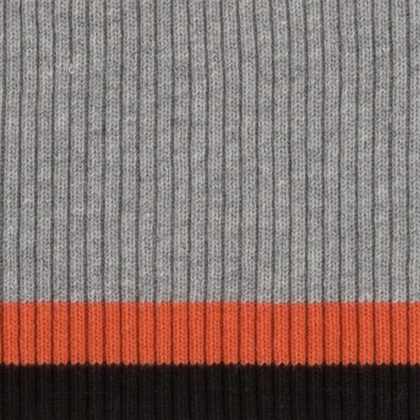 Tricot boord | Grijs - Roest - Zwart