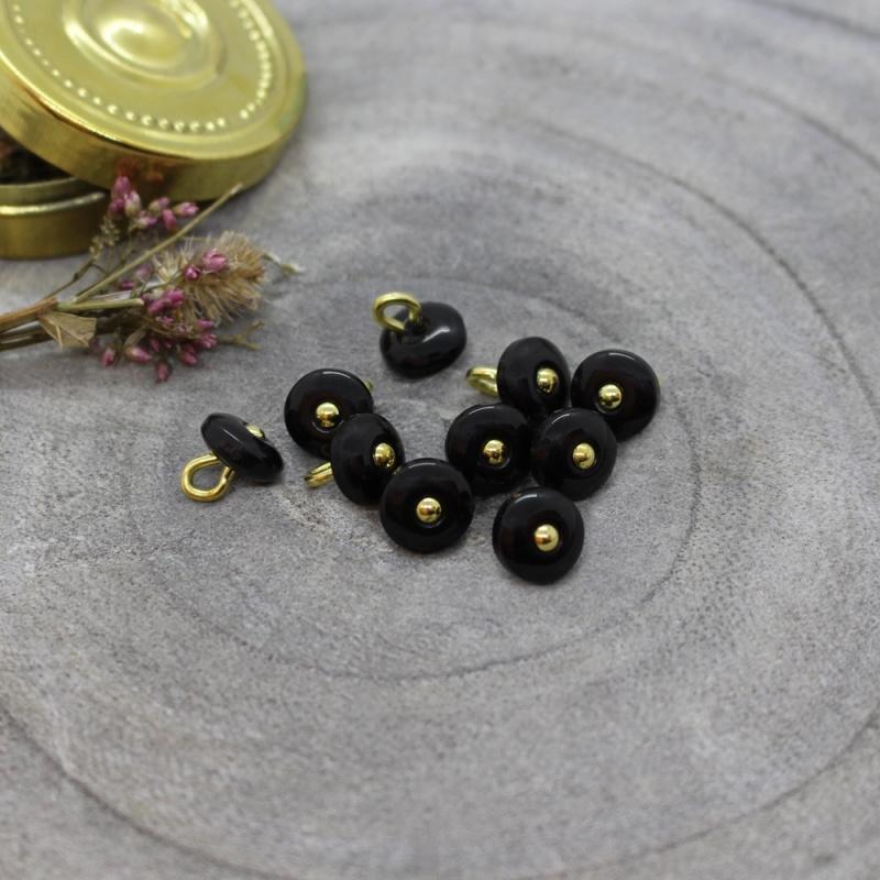Atelier Brunette  Buttons    Jewel - Black  9 mm