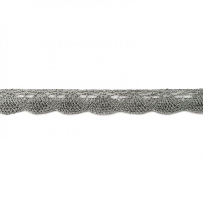 kant katoen | 2 cm | donkergrijs