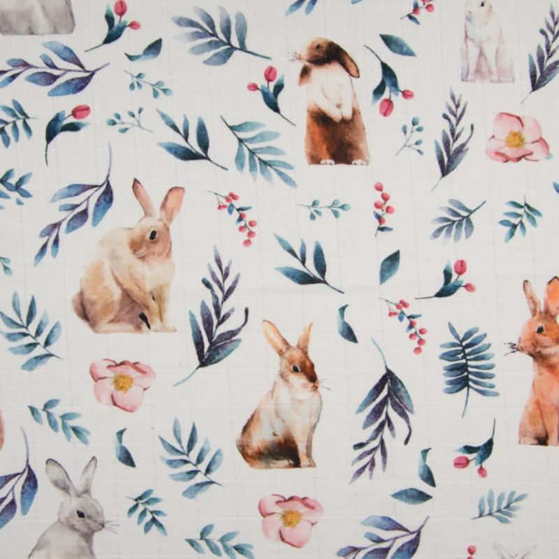 Mousseline | Digital Print | Bunnies