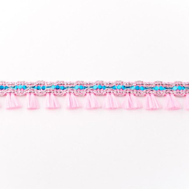 40467 minikwastjesband met glitter roze