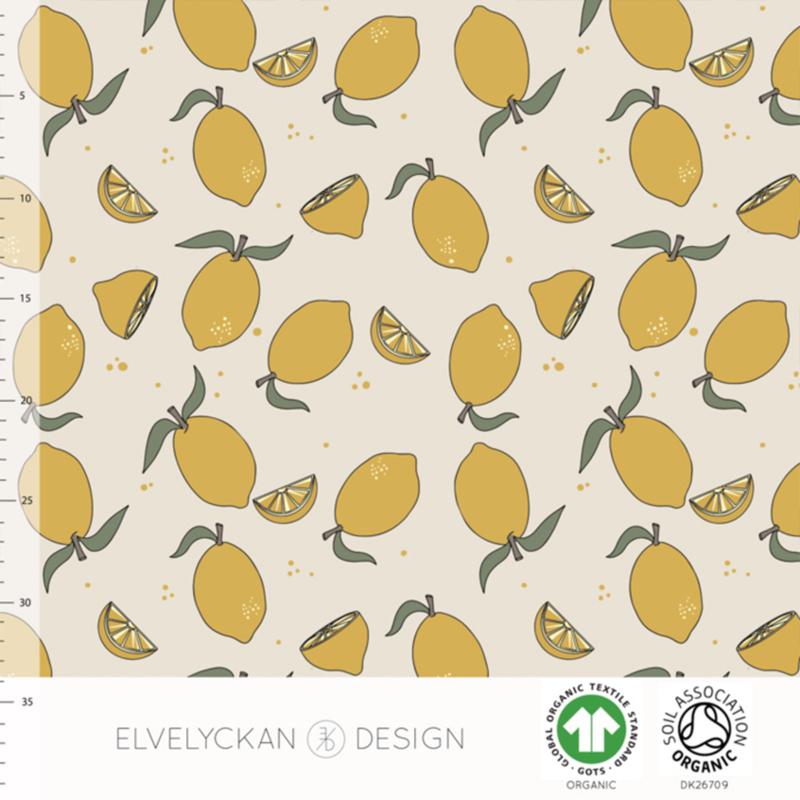 Elvelyckan design | tricot | Lemons | Organic