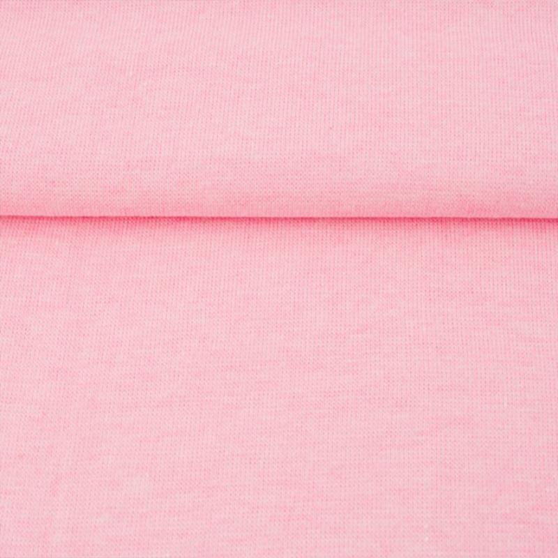 tricot boordstof melange | roze