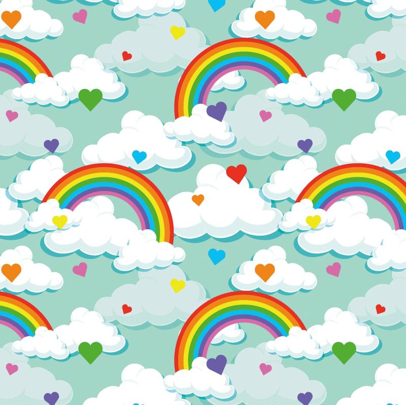 Tricot Print | Rainbow - Mint