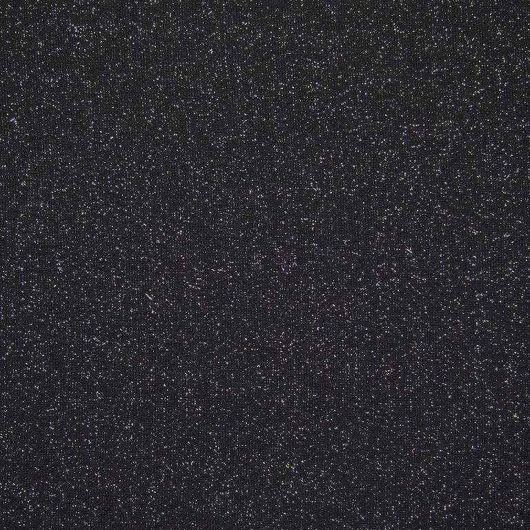 Tricot boordstof glitter   Black - Silver