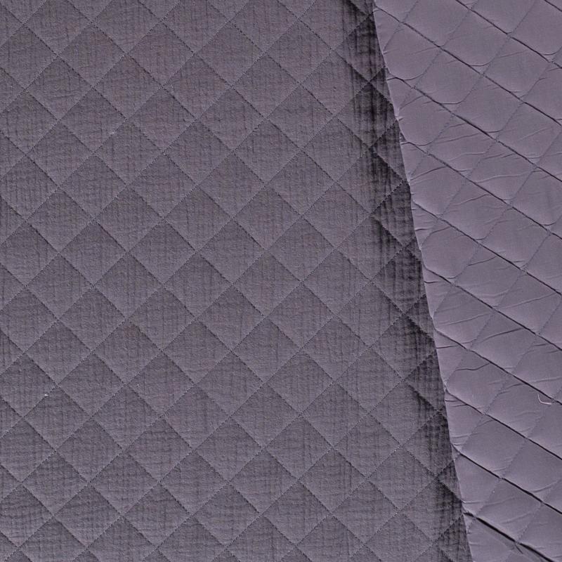 Double Gauze - Mousseline Quilted | Dark Grey  063