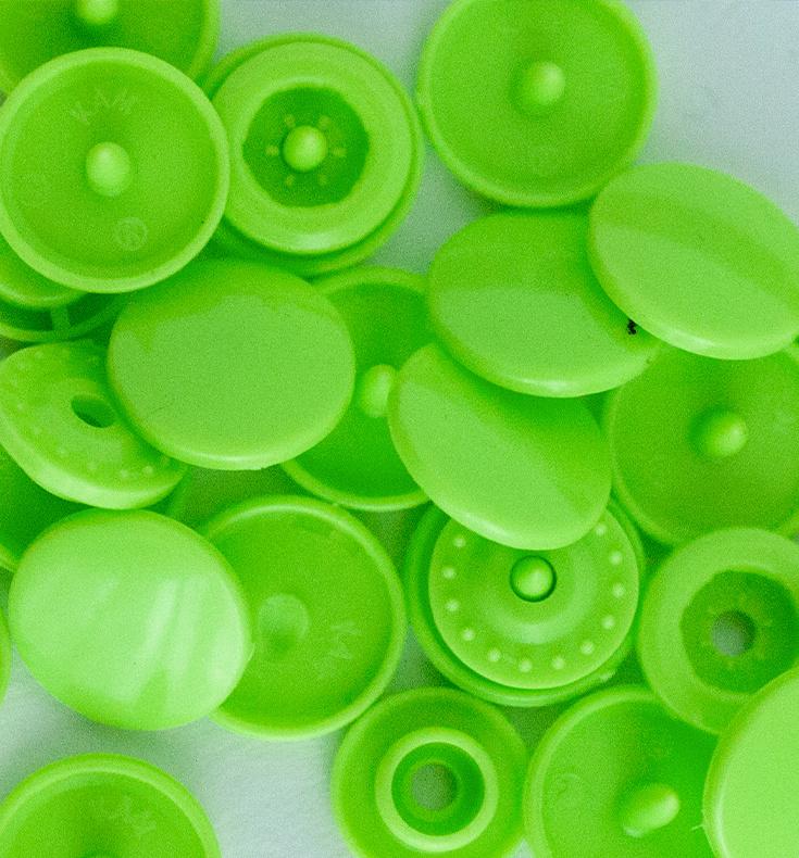 Kamsnaps - 12.4 mm - 25 stuks - Lime