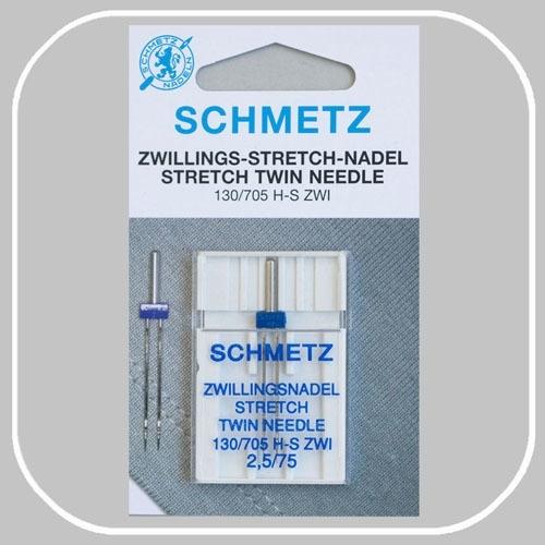 130/705 H-S-ZWI  tweeling stretch naalden   breedte 2,5