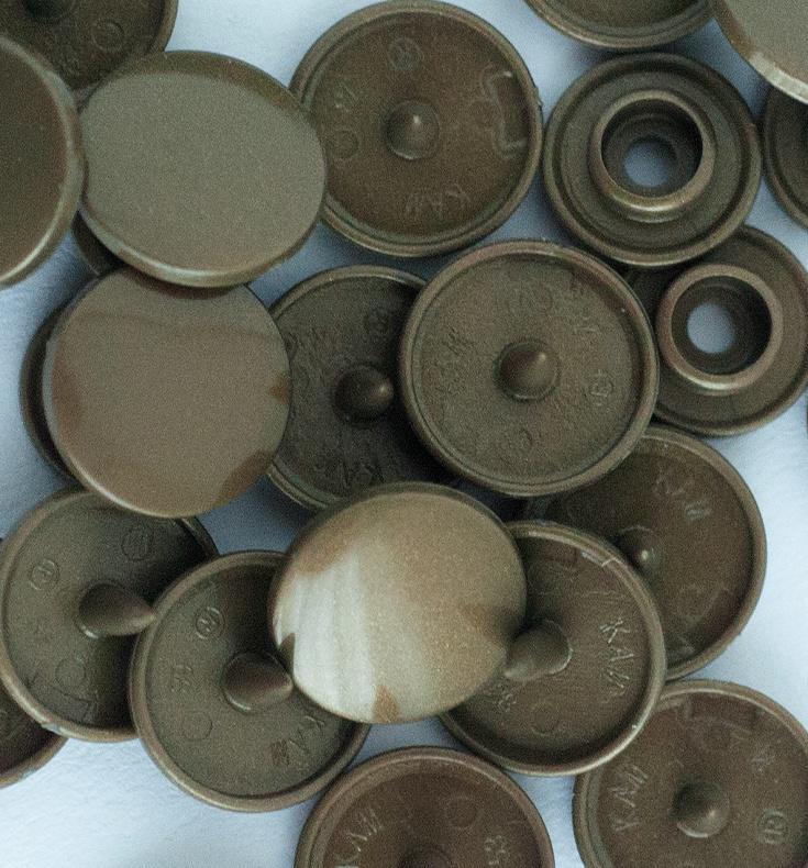 Kamsnaps - 12.4 mm - 25 stuks - Brons