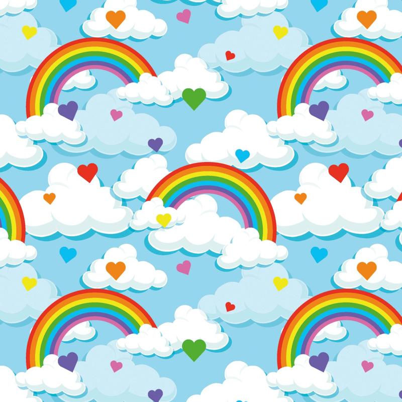 Tricot Print | Rainbow - Blue