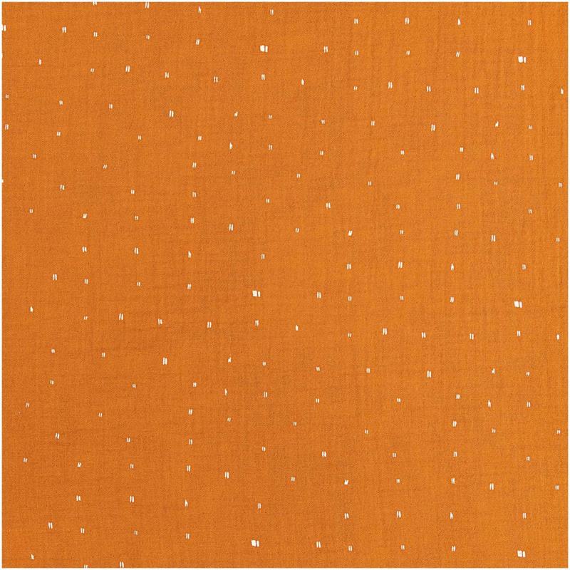 Rico Design | Double Gauze - Rust  - hot foil stip