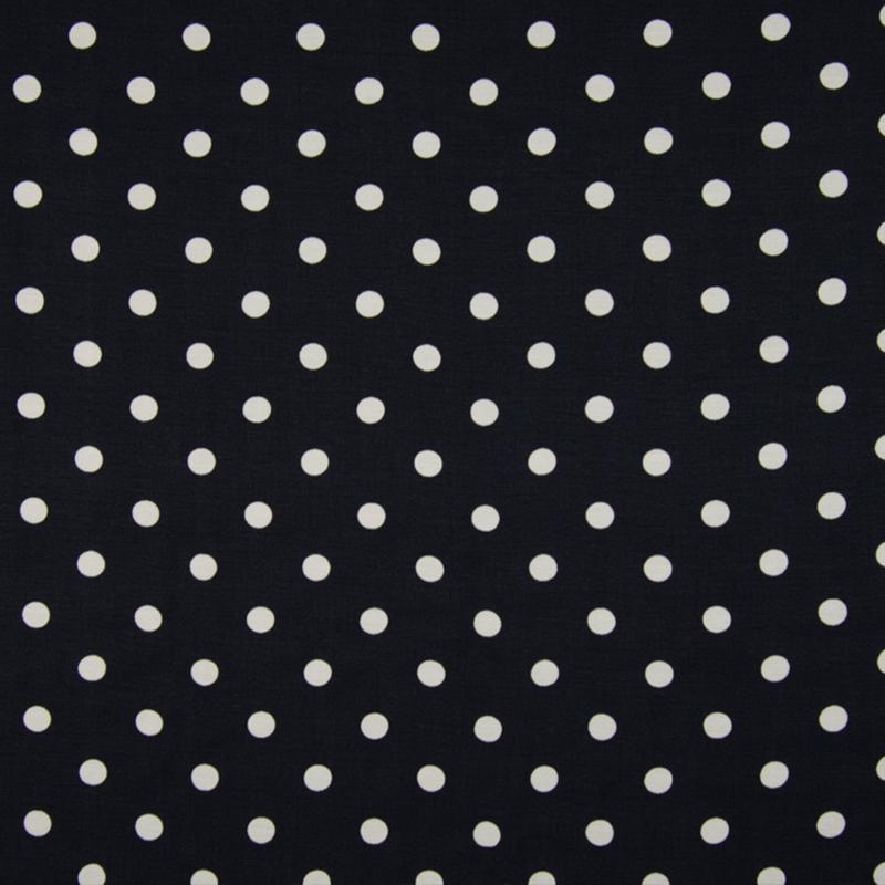 Cupro   Dots - Ecru - Zwart