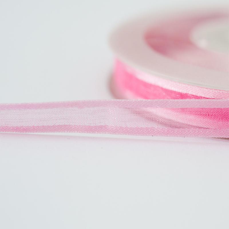 Organza lint | 10 mm | Roze